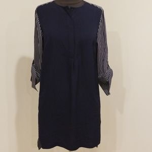 🦚 NWT! LOFT Navy Solid/Striped Size XS Dress